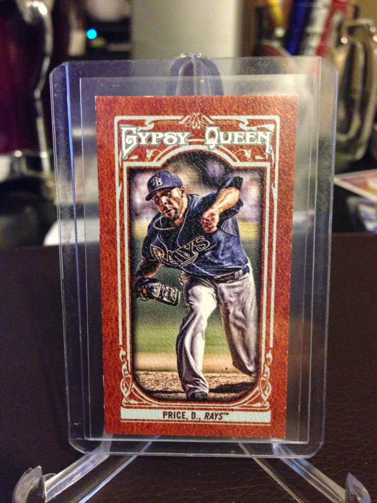 2013 Topps Gypsy Queen David Price Mini Leather 1/1 (Side 1)