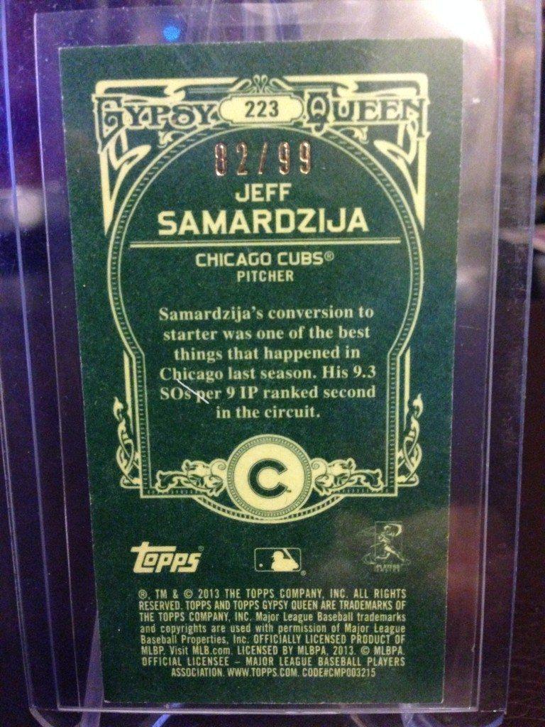 2013 Topps Gypsy Queen Jeff Samardzija Mini Green #82/99