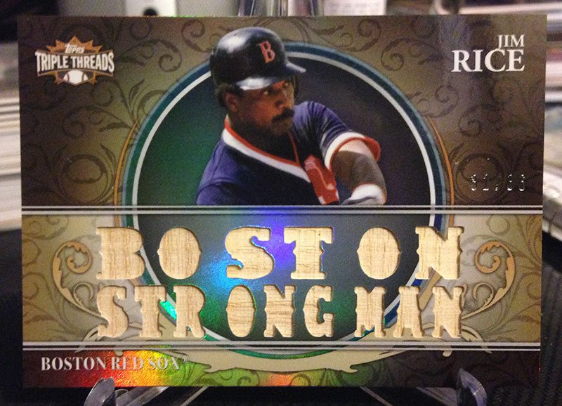 2013 Topps Triple Threads Relic Jim Rice #32/36 $10
