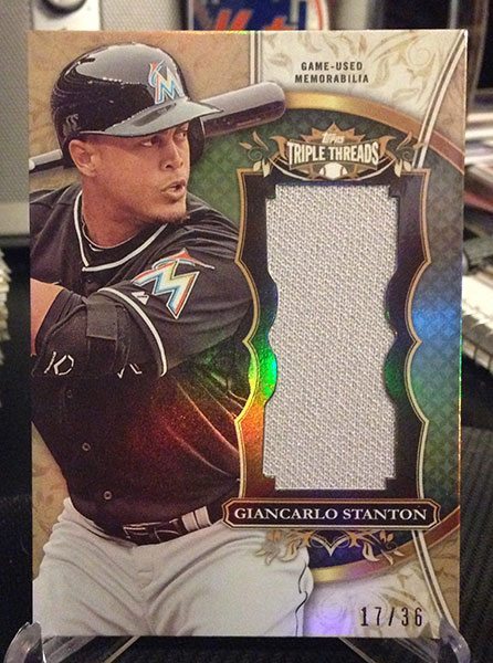 2013 Topps Triple Threads Relic Giancarlo Stanton #17/36 $7