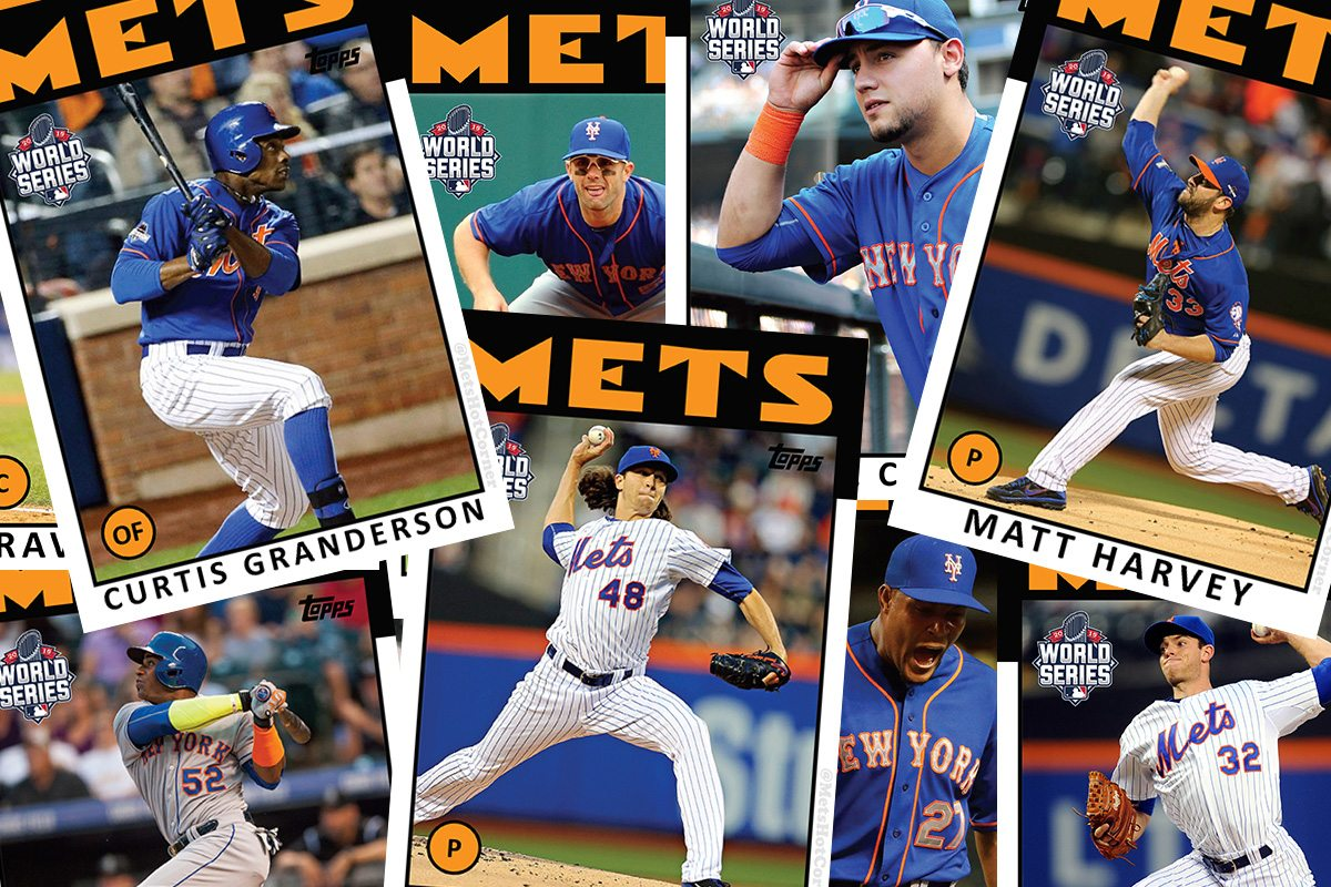 2015 World Series Mets Retro Topps Baseball Cards Mets Hot Corner