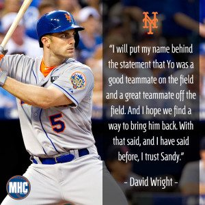 David Wright on Yoenis Cespedes