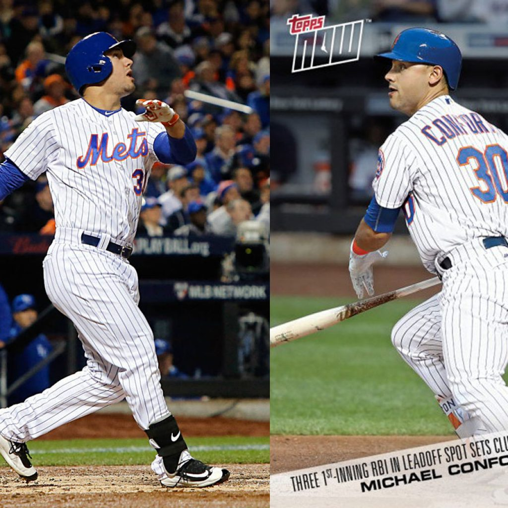 Conforto Gets First Topps NOW Card